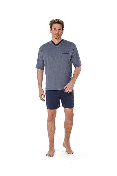 Hajo Betz Pijama de dos piezas para hombres corto de color azul denim size 48