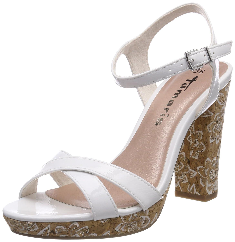 Tamaris 28385 Sandali con Cinturino alla Caviglia Donna Bianco White
