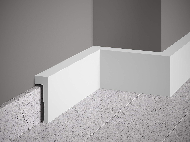 ***BESTSELLER*** MARDOM DECOR Sockelleiste I MD006 I Fu/ßbodenleiste Kabelkanal Abdeckleiste I 200 cm x 10,1 cm x 2,3 cm