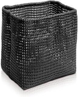 Black M/öve Tube Gro/ßer Korb 33 x 33 x 51 cm aus formbarem Kunststoff