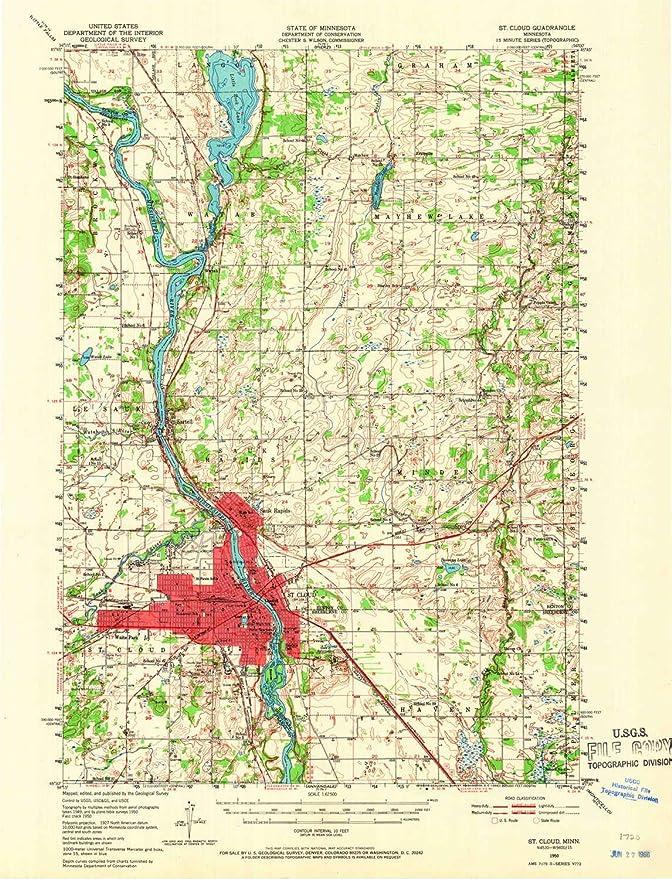 Amazon.com : YellowMaps St Cloud MN topo map, 1:62500 Scale ... on notre dame map, nevada map, texas map, florida map, ucla map, auburn university map, houston map, indiana map, georgia tech map, northwestern map, colorado map, south carolina map, oklahoma map, tennessee map, temple map, unlv map, memphis map, villanova map, washington map, minnesota map,