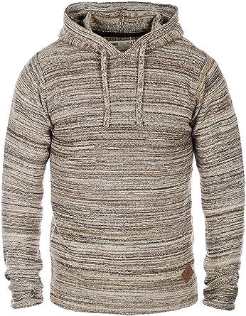 Solid Macall Jersey De Punto Suéter Sudadera para Hombre con Capucha De 100% algodón, tamaño:L, Color:Dune (5409): Amazon.es: Ropa y accesorios