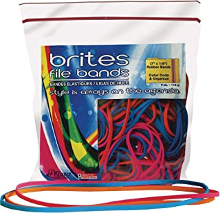 product image for ALL07800 - Alliance Rubber Brites 07800 File Bands - Non-Latex Colored Elastic Bands - 7 x 1/8-50 Pack