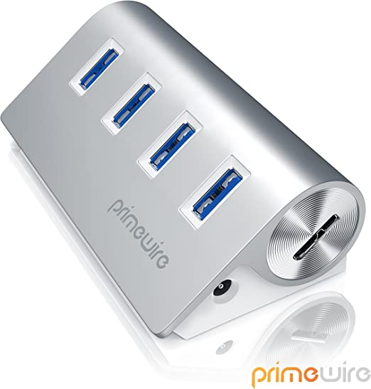 compatibile con Notebook Tableta iMac Macbook 4 Puertos Distribuidor Conector Hueco CSL-Computer Activo USB 3.0 Hub con 4 Puertos Incl