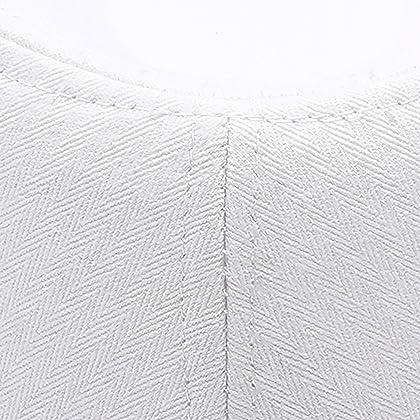 ... MIRMARU Classic Trilby Short Brim 100% Cotton Twill Fedora Hat with  Band(White 185af7f26423