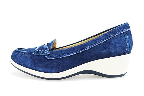 GEOX Mocasines mujer Azul gamuza AG179 (36,5 EU)