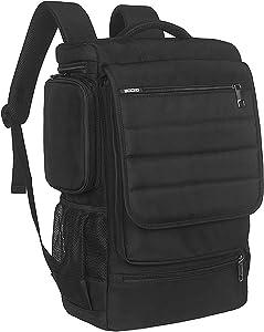Laptop Backpack 17.3 Inch,BRINCH Water Resistant Travel Backpack for Men Women Luggage Rucksack Hiking Knapsack College Shoulder Backpack Fits 17-17.3 Inch Laptop Notebook Computer, Black