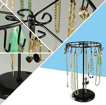 LAUBLUST Pr/ésentoir /à Bijoux en Forme de carrousel Noir Env 34 x 21 x 21 cm