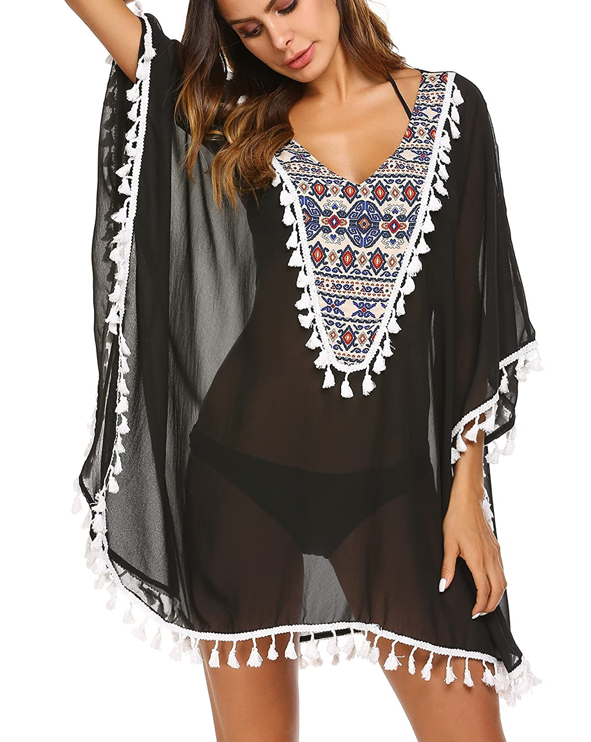 89a3a14608 Online Cheap wholesale Teewanna Women Chiffon Tassel Swimsuit Bikini  Stylish Beach Cover up S-XXL Cover-Ups Suppliers