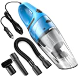 Car Vacuum Cleaner High Power RETECK DC 12v Portable Handheld Car Vacuum Wet Dry 3.6Kpa Suction Auto Vacuum Cleaner Tools with Cigarette Lightener Plug, 14ft Power Cord - 106 Blue