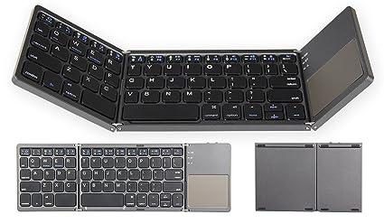 b7b8b732012 YHLCSQ Folding Bluetooth Keyboard for Tablet Samsung Smartphone Portable BT Wireless  Foldable Mini Keyboard with Touchpad