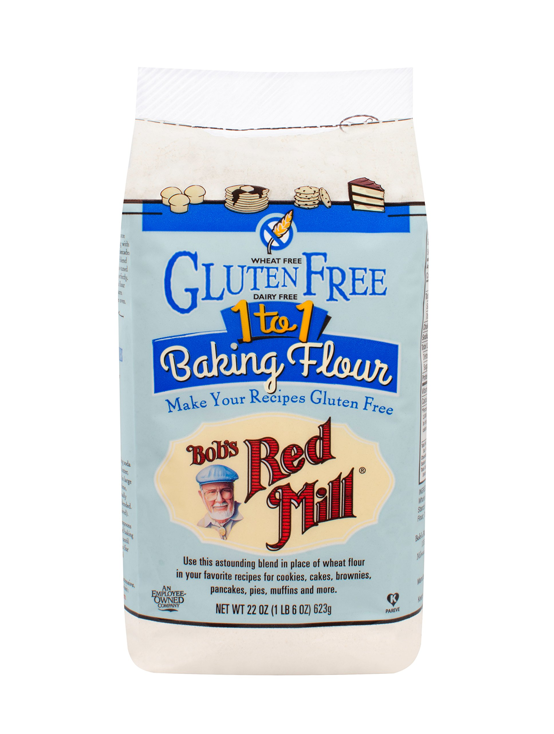 Bob's Red Mill Gluten Free 1-to-1 Baking Flour, 22-ounce by Bob's Red Mill (Image #1)