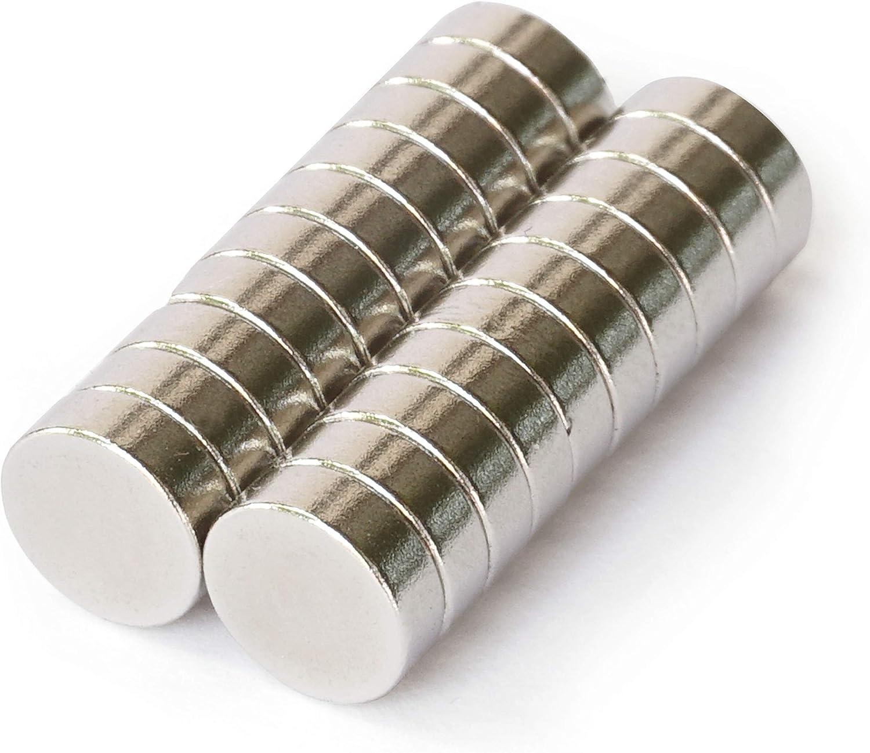 S016 Rundmagnete 20 Stück sehr starke Mini Magnete 3x1mm Neodym auch für Autos