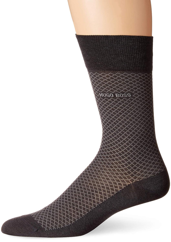 642aade83 Amazon.com: HUGO BOSS Men's Classic Regular Fit Cotton Dress Socks,  Charcoal, 7-13: Clothing