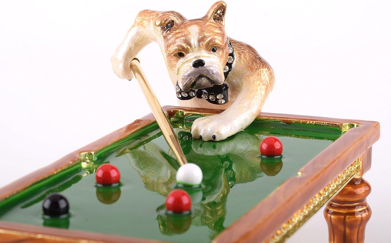 Perros jugando al billar Joyero caja de música estilo decorado con ...