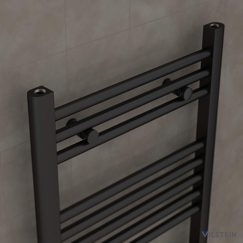 Anthrazit Horizontal Seitenanschluss und Mittelanschluss 1800x600 mm VILSTEIN Bad-Heizk/örper
