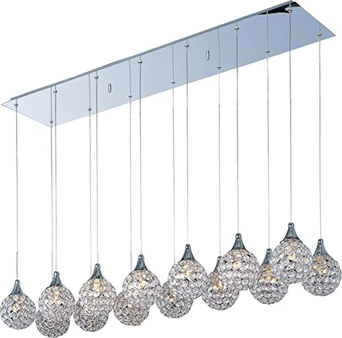 ET2 E24029-20PC Brilliant Modern Crystal Rectangular Pendant Ceiling Lighting