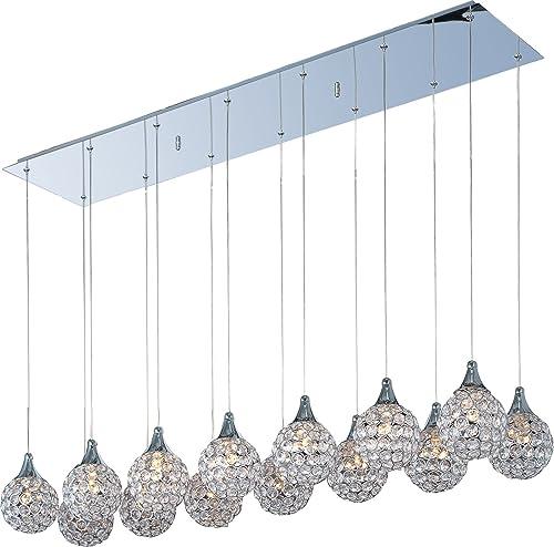 ET2 E24029-20PC Brilliant Modern Crystal Rectangular Pendant Ceiling Lighting