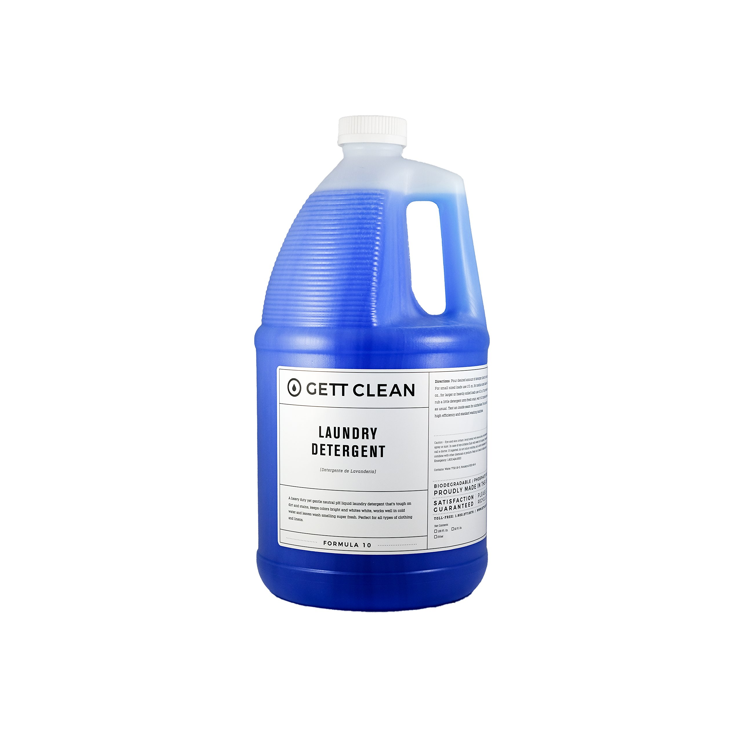 GETT CLEAN Liquid Laundry Detergent, 1 Gallon, Concentrated Professional Strength, Industrial or Home Use