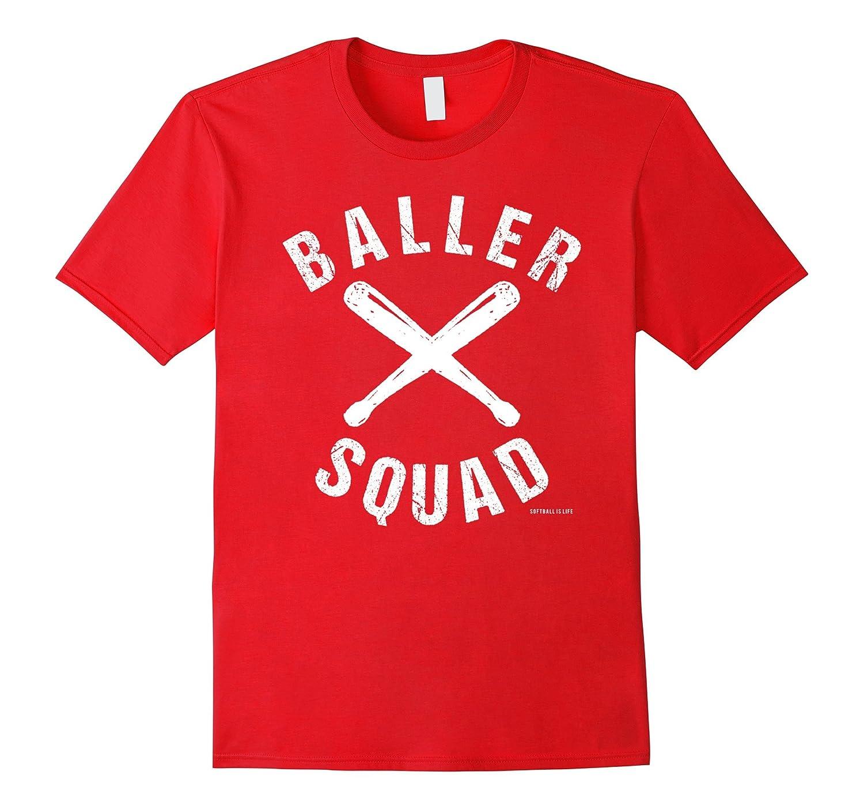 Baller Squad Softball Is Life T Shirt-Vaci