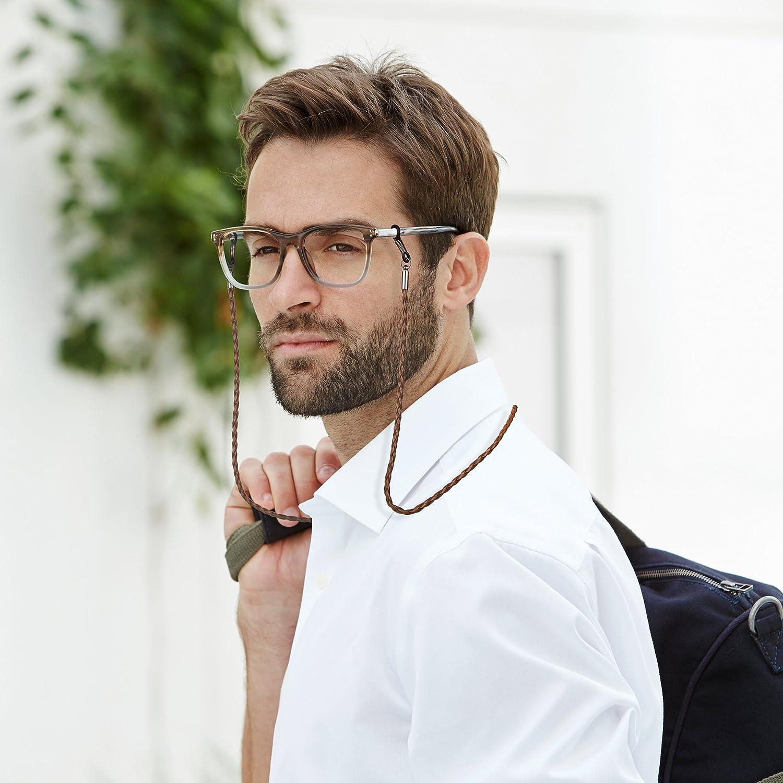 Amazon.com: Eyeglasses Holder Strap – Premium Leather [Pack of 4 + Bonuses]  – Glasses Holder Lanyard Chain Cord Necklace – Eyewear Retainer for Men  Women Boys Girls - Never Lose Glasses Again: Home Improvement