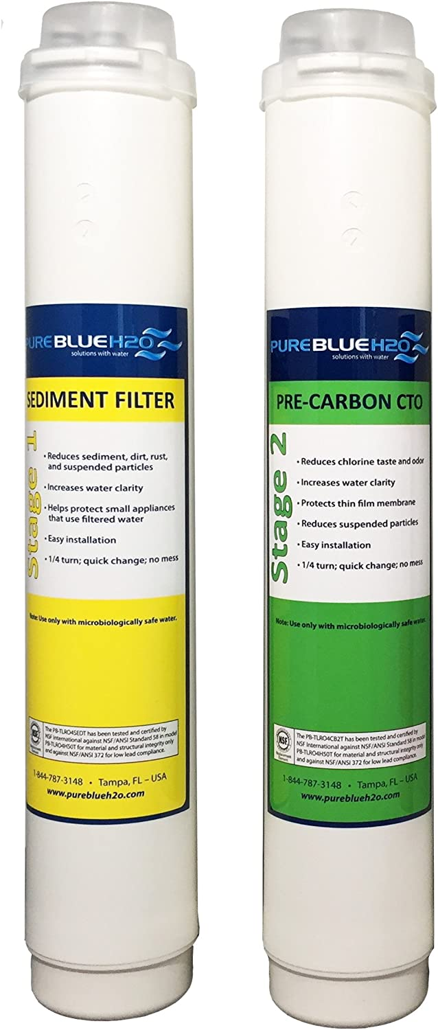 Pure Blue H2O 2 Pack Twist Lock Replacement Filters (6 month)