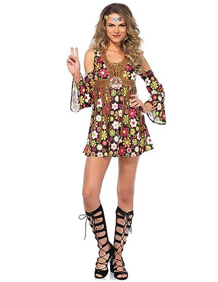 Generique - Disfraz Hippie Florido Mujer L (44-46): Amazon.es ...