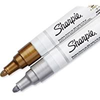 2-Count Sharpie Oil-Based Medium Point Paint Markers (Metallic Gold and Silver)