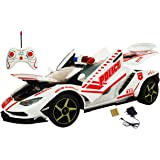 Webby RC Opendoor & Dicky Police Car with Police Siren & Light Toy (Red)