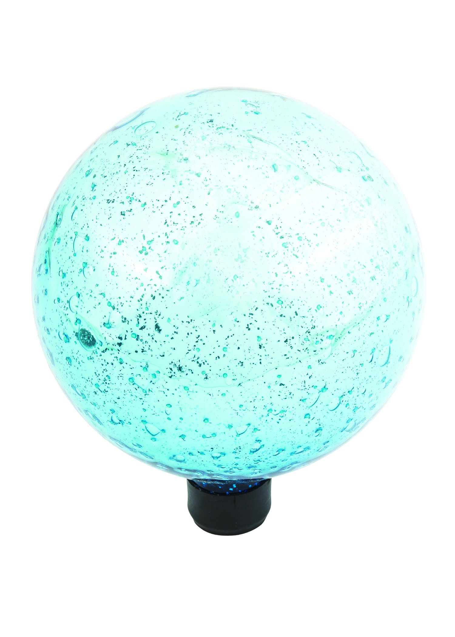 Russco III GD137227 Glass Gazing Ball, 10'', Blue with Silver
