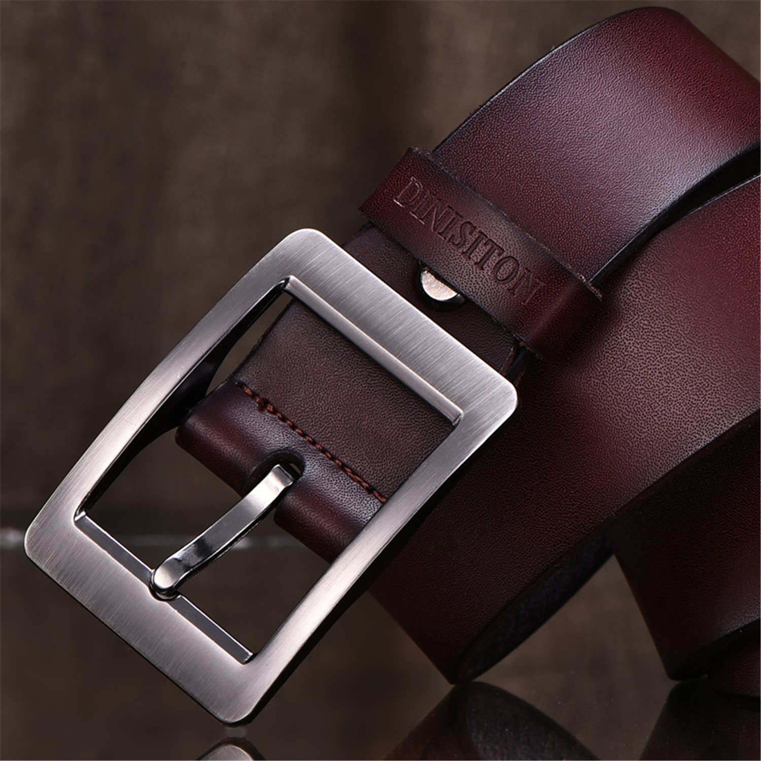 TOGIC Fashion vintage jean pin buckle belts business casual belt for men classic trousers para homens preto