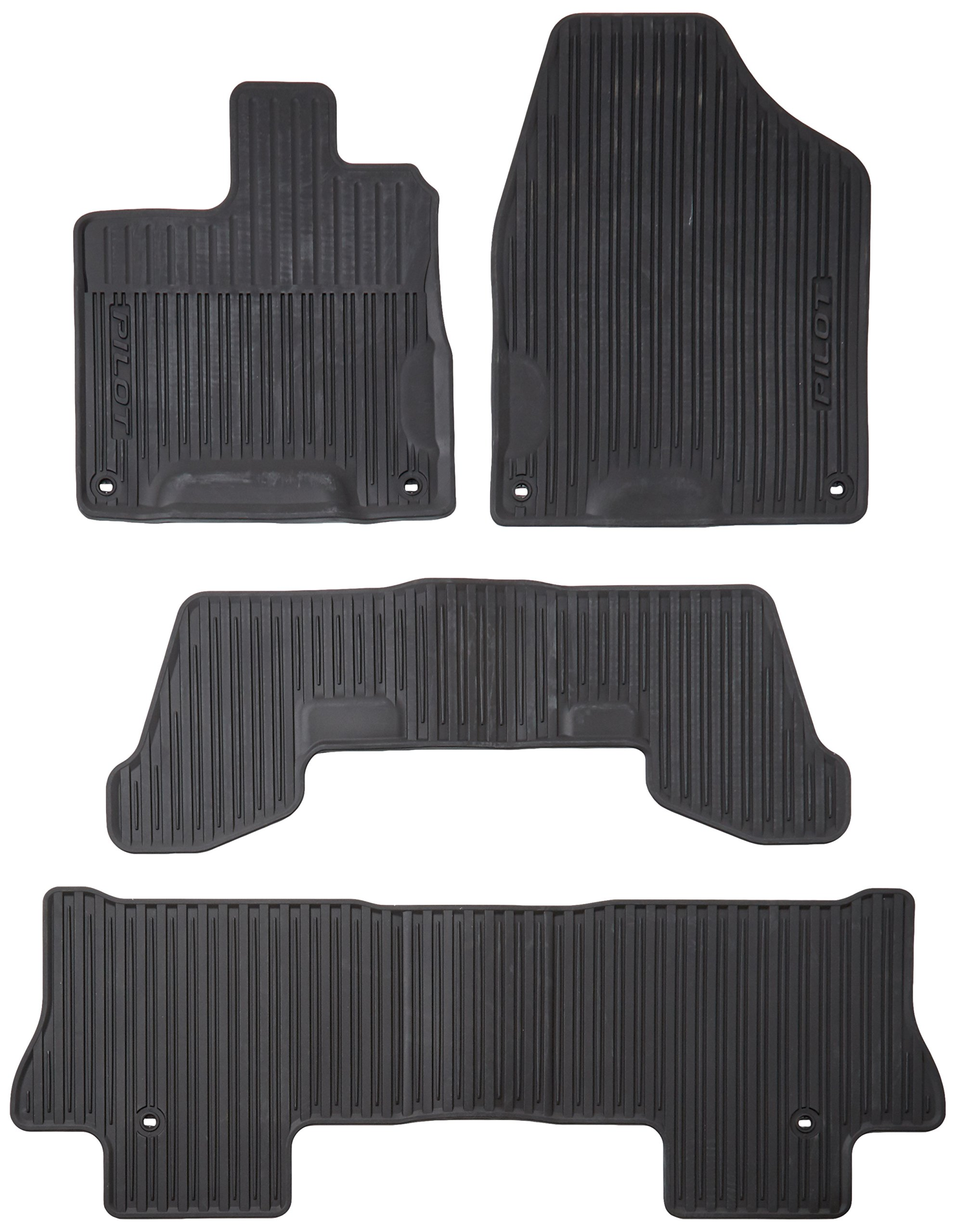 Honda Genuine 08P17-TG7-100 All-Weather Floor Mat for 2016 Pilot