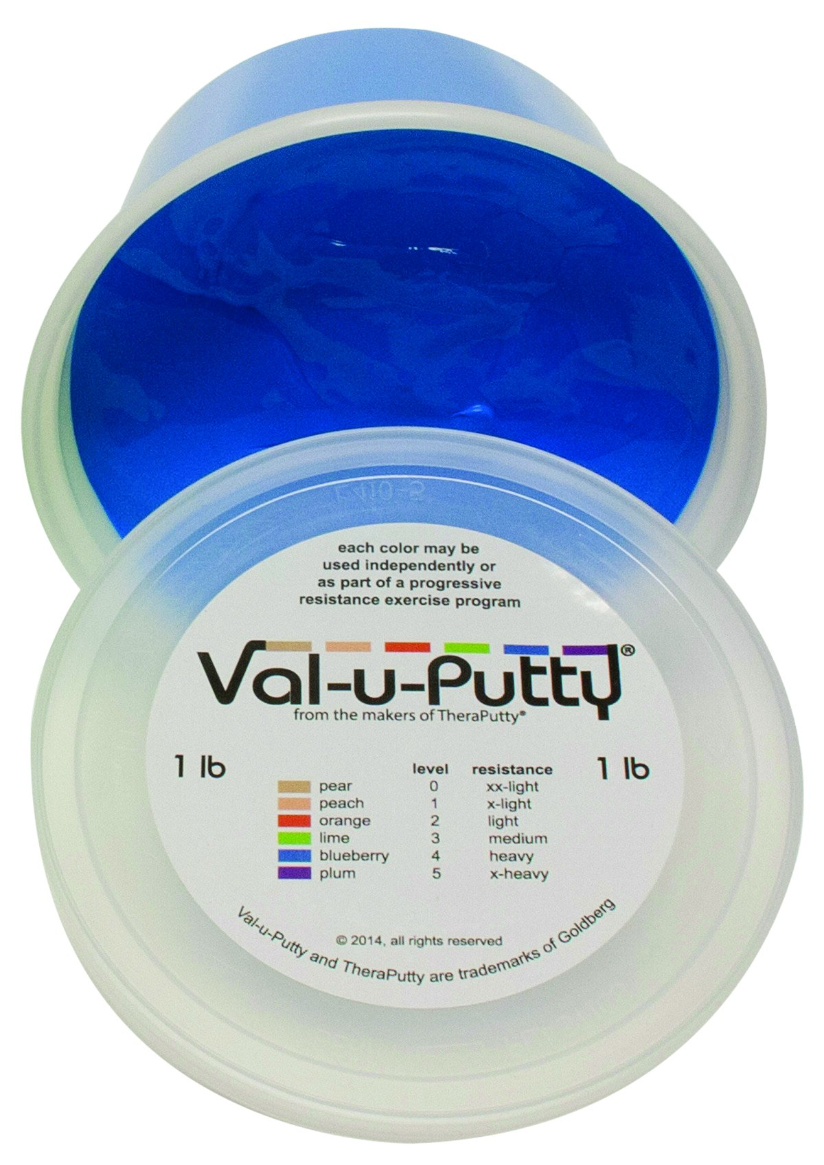 Fabrication Enterprises 10-3944 Val-U-Putty Exercise Putty, Blueberry(Firm), 1 lb.