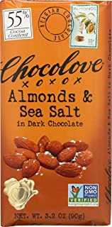 product image for Chocolove, Almonds and Sea Salt in Dark Chocolate, 3.2 oz