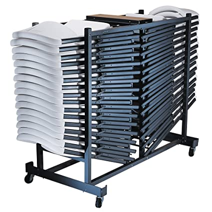Storage Rack Folding Chair Cart  sc 1 st  Amazon.com & Amazon.com: Storage Rack Folding Chair Cart: Kitchen u0026 Dining