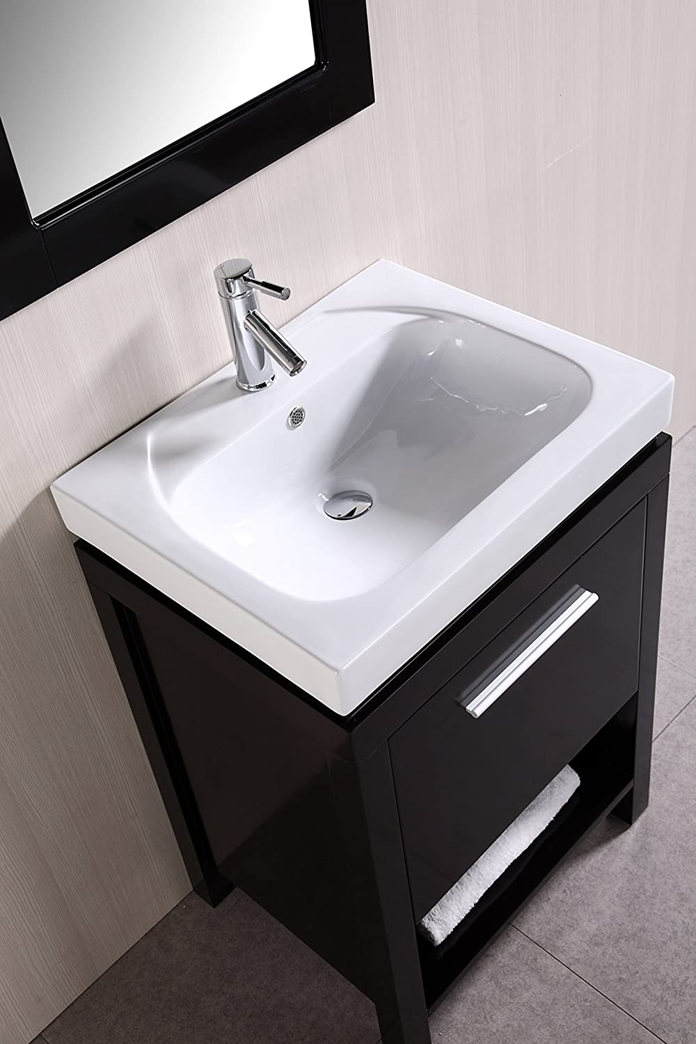Design Element New York Single Integrated Porcelain Drop-In Sink ...