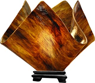 product image for Jezebel Signature VALA-FP16-EAR Flame Glass Vase Lamp, Large, Earth