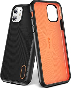 Humixx Stronghold Series iPhone 11 Case Black [16ft Military Grade Drop Protection] [Dual Layer Protect ] Shockproof Ultra-Thin Protective Case with Non-Newtonian Soft Bumper Designed for iPhone 11