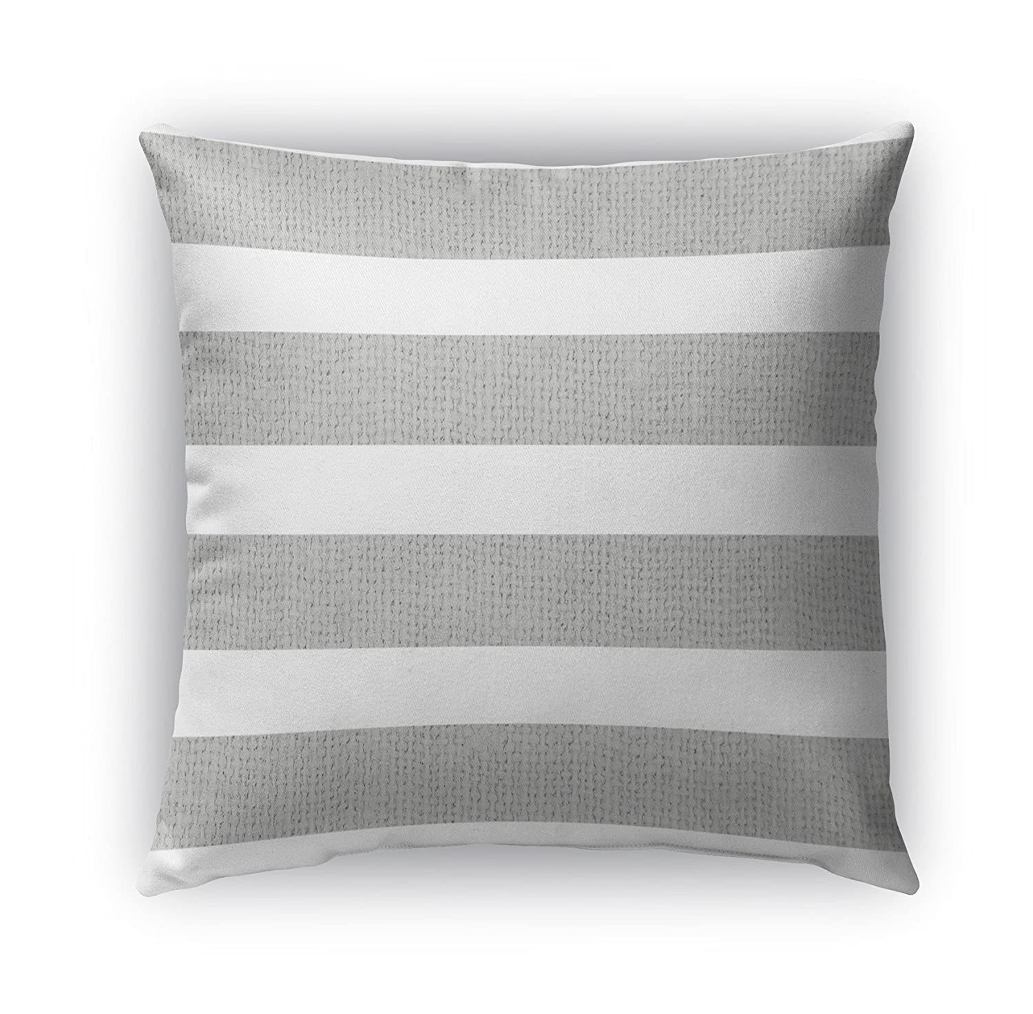 KAVKA Designs Centerville Indoor-Outdoor Pillow, Size: 20X20X6 - - Silver//White TELAVC8118OD20