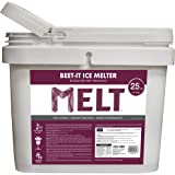 Snow Joe MELT25IB-BKT 25 lb Flip-Top Bucket with Scoop Beet-It, CMA Plus Beet Extract Enriched Melt