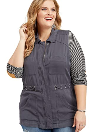 ee7892761e1c7 maurices Women s Plus Size Zip Up X-Waist Vest at Amazon Women s ...