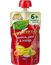 Rafferty's Garden Banana, Pear and Mango Ready to Eat Porridge for 6+ Month Babies, 6 x 120 g