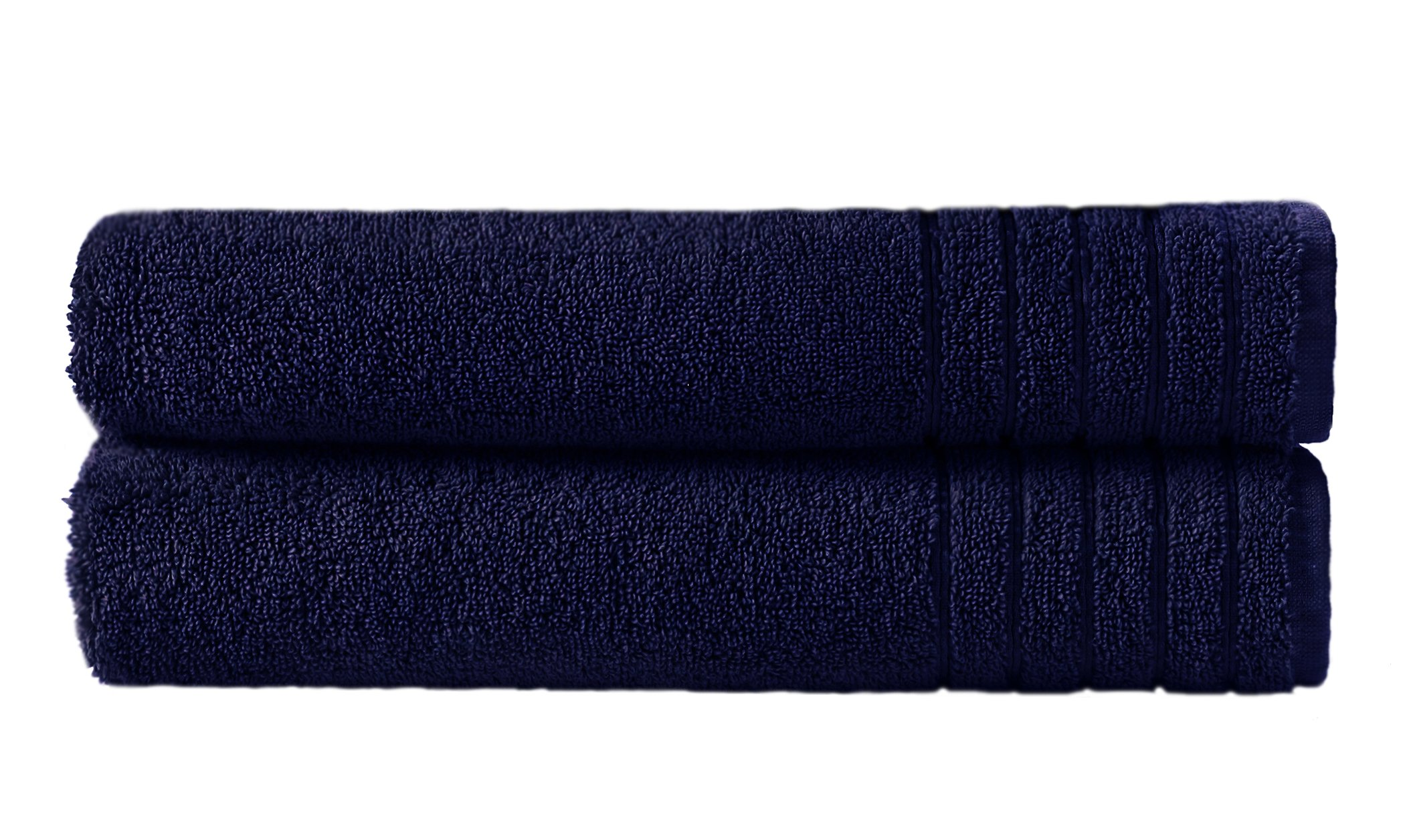 Cotton Craft - Super Zero Twist 2 Pack Oversized Bath Sheet Set 35x70 - Navy - 7 Star Hotel Collection Beyond Luxury Softer Than A Cloud - 100% Pure Super Zero Twist Cotton