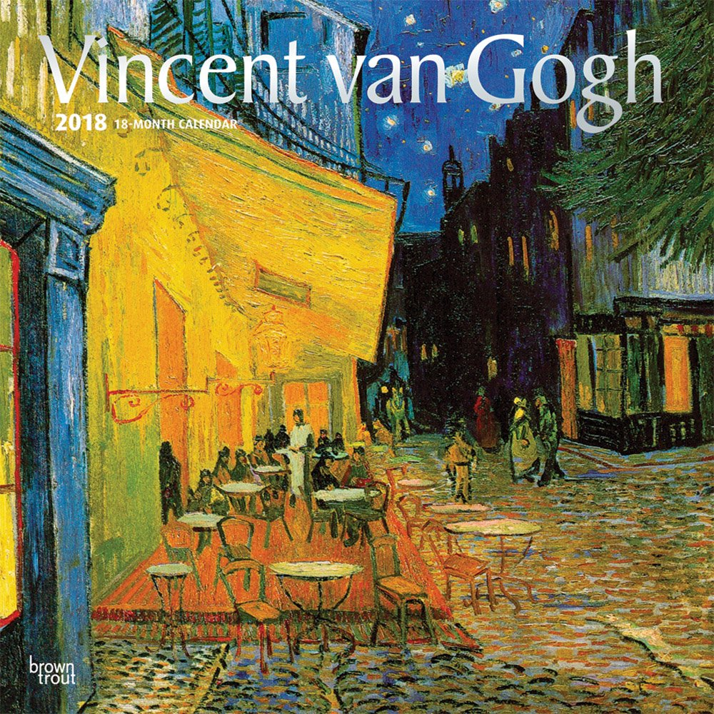 Vincent van Gogh 2018 12 x 12 Inch Monthly Square Wall Calendar with Foil Stamped Cover, Dutch Post-Impressionism Art Artist (Multilingual Edition)