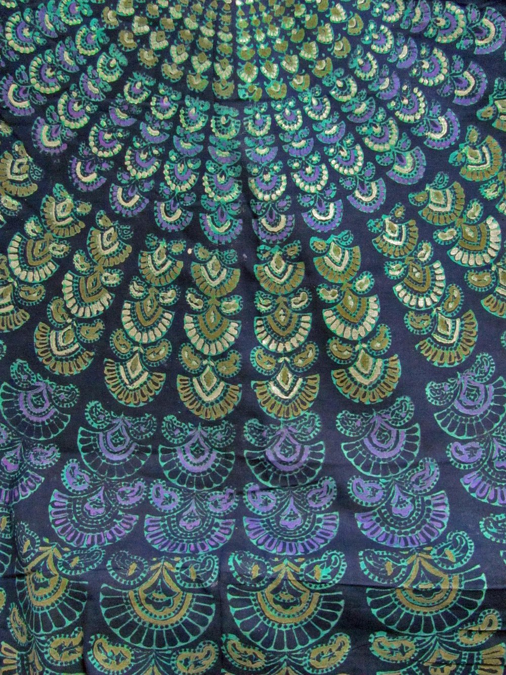 India Navy Blue Handloomed Cotton Mandala Peacock Bedspread Blanket Throw Tapestry 110''x 110'' (King Size) by Rajasthan Cottage (Image #5)