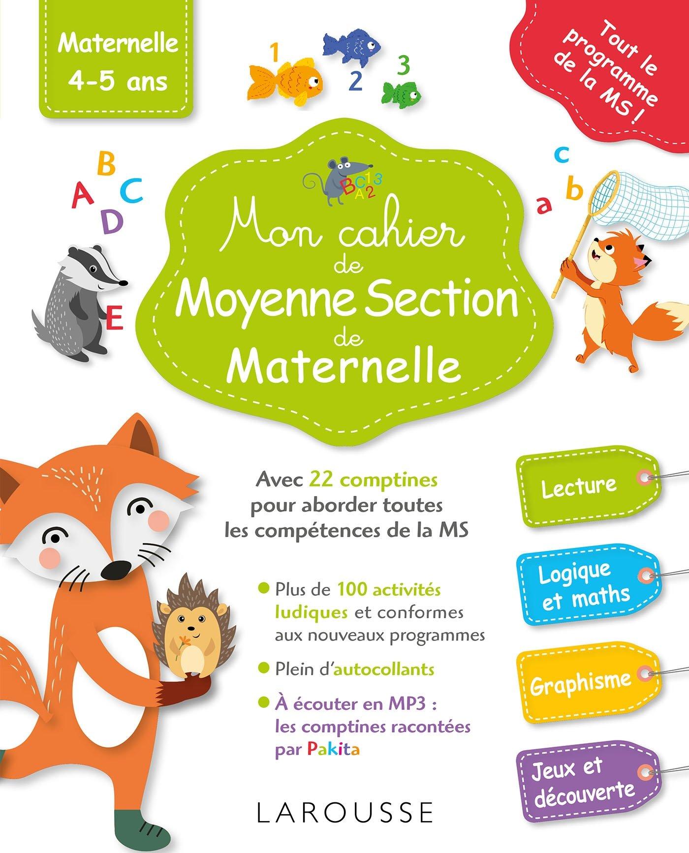 Mon Cahier De Moyenne Section De Maternelle Amazon Fr Genestine Pascale Livres