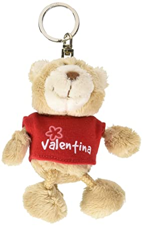 NICI n15846 - Llavero Oso con Camiseta Valentina, Rojo ...
