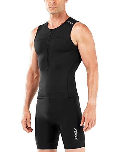 afb22bf9a Amazon.com  2XU Mens Active Tri Singlet  Sports   Outdoors