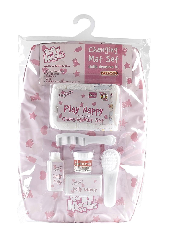 Casdon 712 Baby Huggles Dolls Changing Mat Set-pink