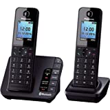 Panasonic KX-TGH262 Twin Link2Mobile Bluetooth Cordless Phone with Call Blocker